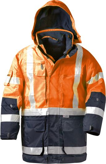 Warnparka Wallace, 4in1, Gr. M, orange