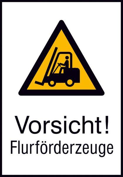 Warnschild Alu gepr Flurförderz. 262x371