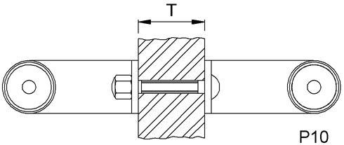 KWS 8A10 Paarbefestigung P 10-M6 f.WS, für Glas