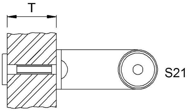 KWS 8A71 StückbefestigungS21-M6, für Holz f.WS