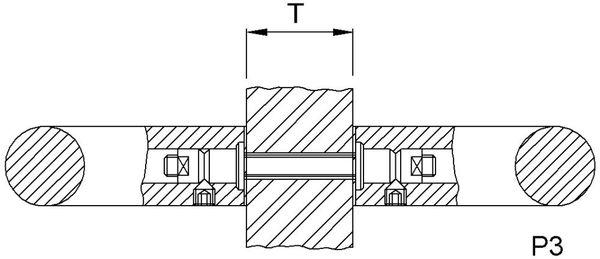 KWS 8B03 Paarbefestigung P3-M8, für Glas f.RS