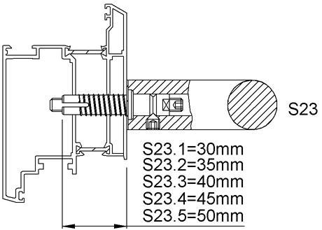 KWS 8B73 StückbefestigungS23-M8,f.Holz,Dübel 45 mm