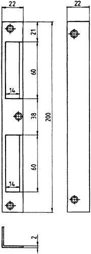 HTW Blech 22x22x200 abgerrs/ls verwendbar