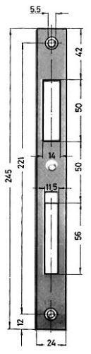 Schliessblech Nr 0129-03-24/245X24X2 mm verz