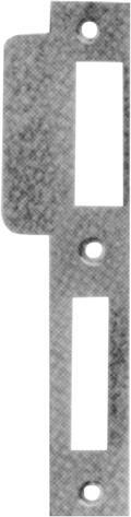 Schließplatte eckig ls 170x24x2 silber
