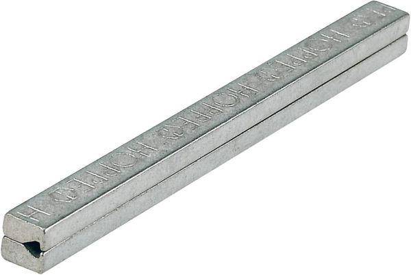 Vierkant-Profilstift 8x160mm geteilt,verzinkt