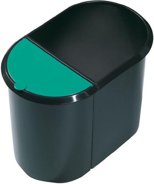 Papierkorb Duo-System schwarz/blau