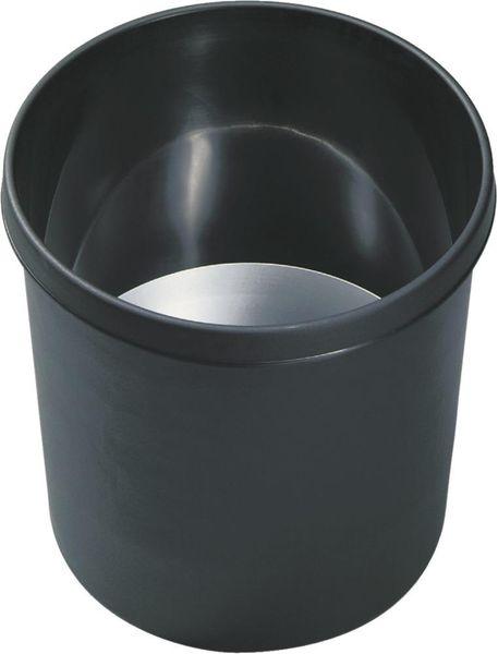 Papierkorb 18 l schwarz schwer entflammb.