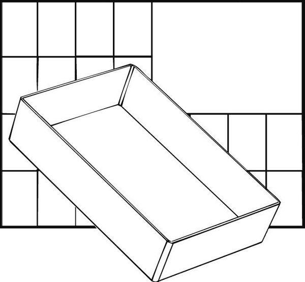 A6 1 Facheinsatz einzeln 47x109x157 mm