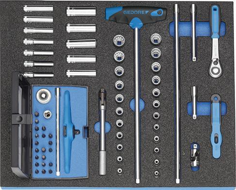 """Werkzeugmodul CT2/4 Steckschl.satz1/4"""" Gedore"""
