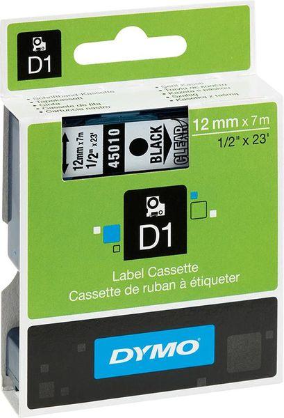 Schriftband 45012 rot /transparent 12mmx7m Dymo