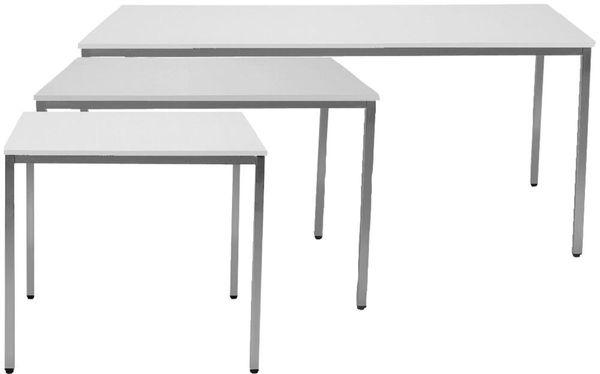 Tisch 1400x800 mm lichtgrau/lichtgrau