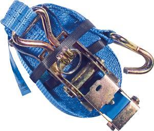 Zurrgurt Ratsche u.Hacken 5,0x1000cm blau