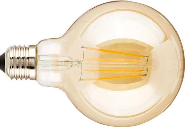 LED Globe 8W E27 DIM gold