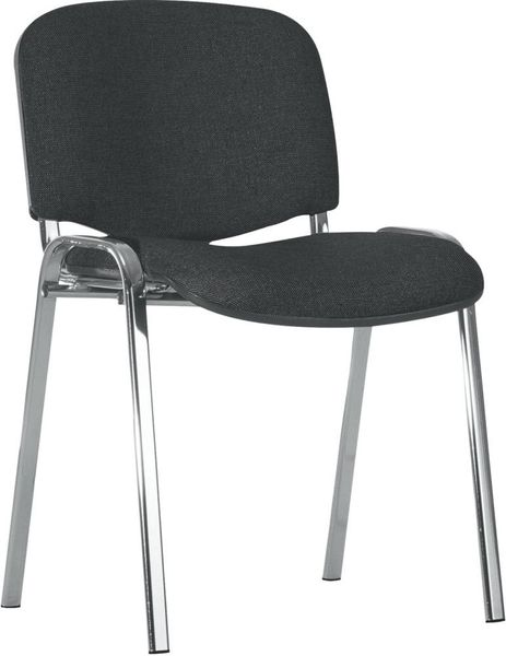 Bes.-Stuhl ISO chrom/schwarz