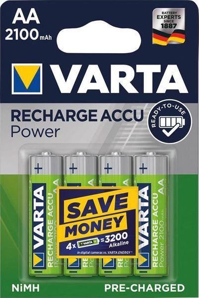 VARTA Power Accu R2U Mignon AA, HR06, 2100 mAh