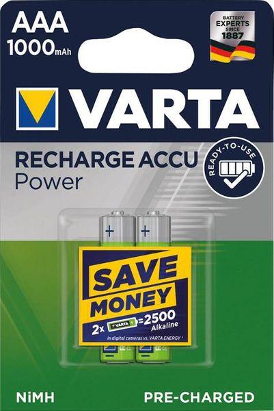 Batterie RECHARGEABLE AAAMicro, Accu1000mAh Varta