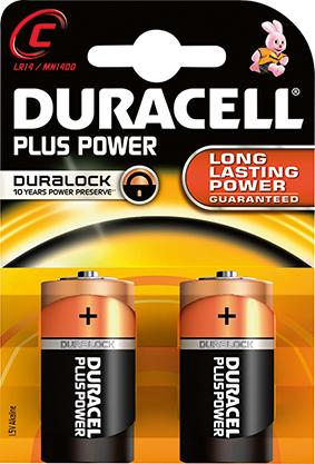 Batterie Plus Power C (MN1400/LR14)K2 Duracell