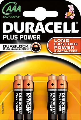 Batterie Plus Power AAA (MN2400/LR03)K4 Duracell