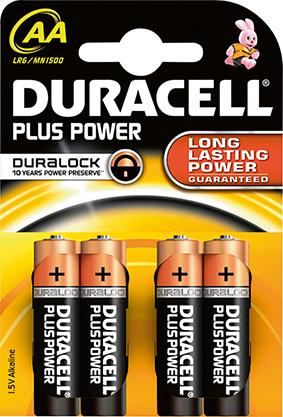 Batterie Plus Power AA (MN1500/LR6) K4 Duracell