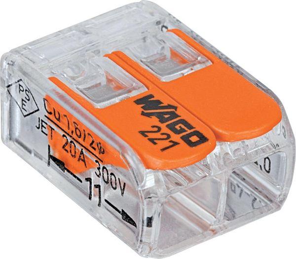 Wago-COMPACT-Klemme 2 x 0,2-4qmm transparent