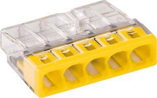 Verbind.-Klemme VDE Wago-COM.5x0,5-2,5qmm gelb 6St