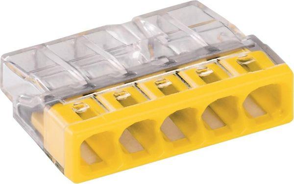 Wagoklemme 5x0,5-2,5qmm gelb