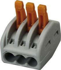 Wago-Steckklemme2p.2,5qmm5 Stueck Btl. m. R.