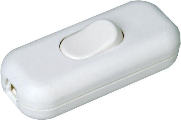 Schnurzwischenschalter 10A weiß, 2-polig SB