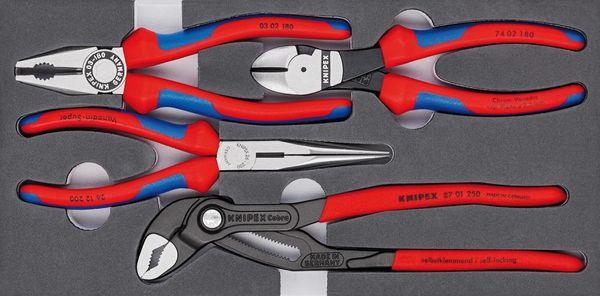 Zangen-Set Basic 4tlg.Schaumeinlage Knipex