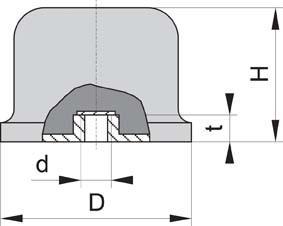 Gummi Anschlag Puffer GPxEB balli 50x35 M10
