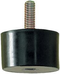 Gummi-Metall-Puffer Aus.B100 x 75mm M16x41