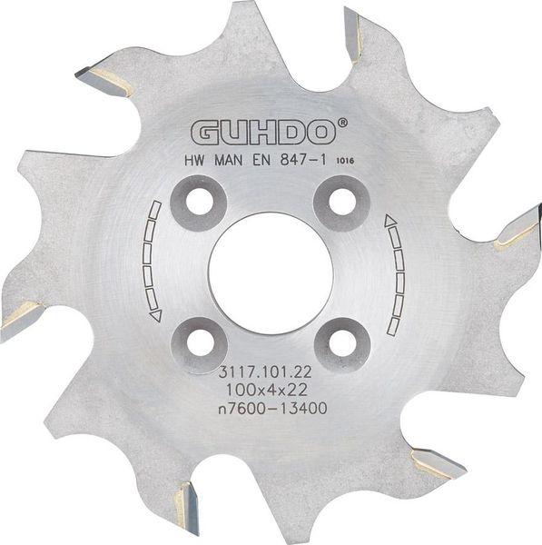 LAMELLEN-Nutfraeser HW 100X4,0X22 mm Z6 Guhdo