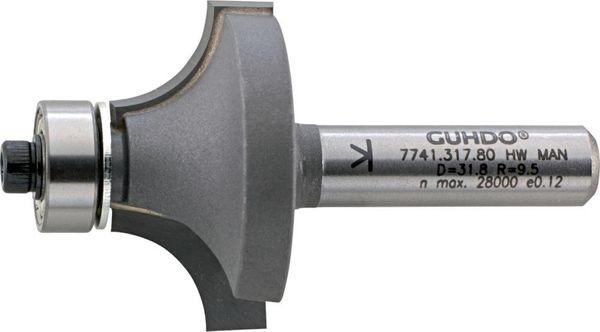 HW-Abrundfräser Z2 S8 D16,7 R2 Guhdo