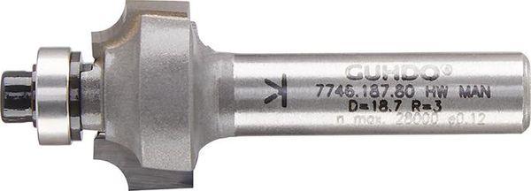 HW-Viertelstabfräser Z2 S8 D22,7 R5 d9,5