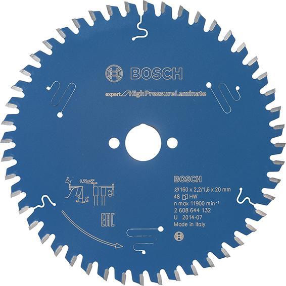 HW Kreissägebl.Expert HPL160x2,2x20mm Z48 TF Bosch