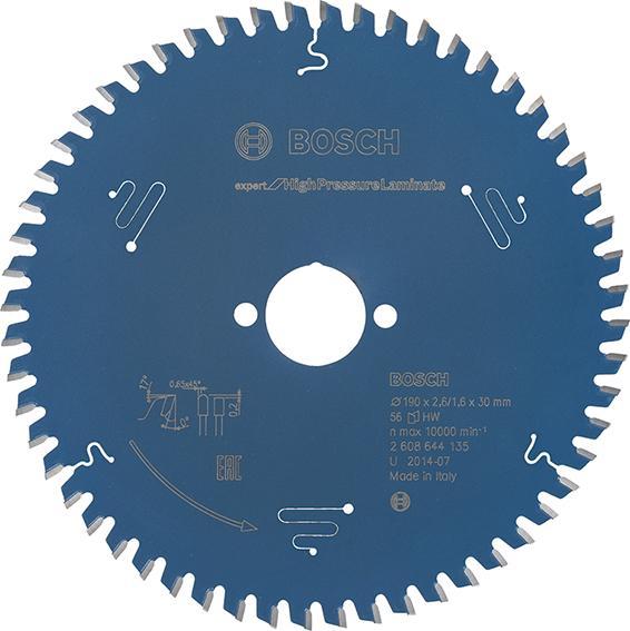 HW Kreissägebl.Expert HPL190x2,6x30mm Z56 TF Bosch