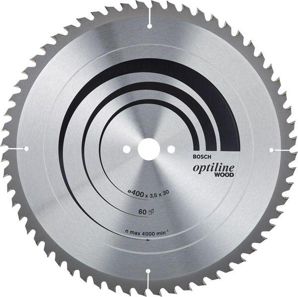 HW Kreissägebl.Optiline W400x3,5x30mm Z60 W Bosch