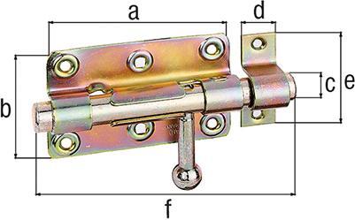 Bolzenriegel Typ268 mont.Schlaufe 100mm verz.