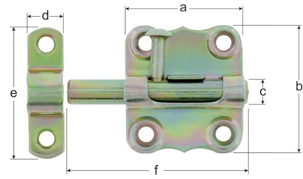 Grendelriegel Typ 160/K2ZA/40 mm