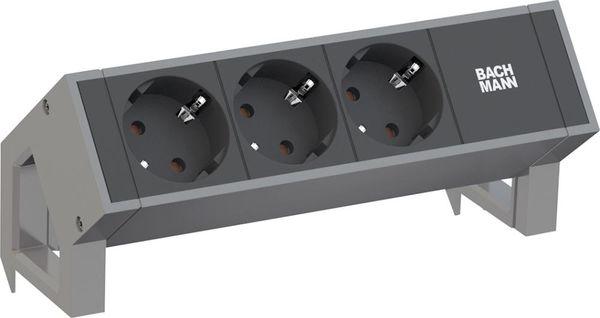 DESK2 3xCEE7/3 Strom 0,2m GST18 Inox lack
