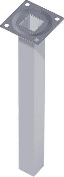 Stahlrohrmöbelfüsse schwarz 100mm eckig