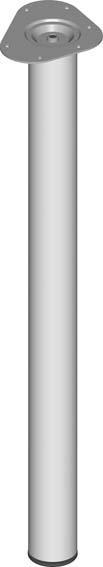 Stahlrohrmöbelfüsse silberfarb.800mm rd.60mm