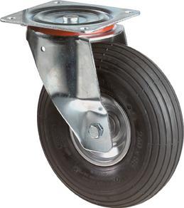 Lenkrolle 200mm Luftrad Stahlblech verz. LG.R