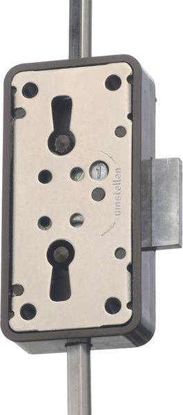 Drehstangenschl.Nr.7052 15mm aufl. braun, 3 Zuh.