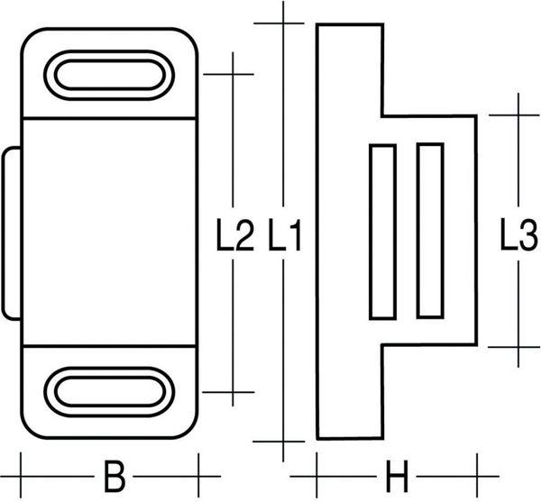 Magnetschnäpper Simplec 6kg weiß inkl.Gegenstück