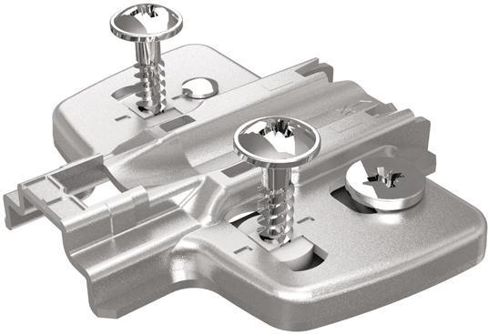 Anschraub-Kreuzmontage platte D 1,5 mm