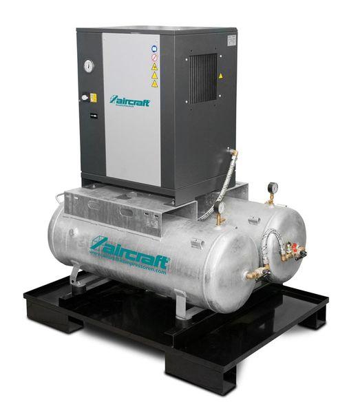 Schraubenkompressor mit Rippenbandriemenantrieb auf 2 x 100 l Behälter A-DUO-MICRO SE 4.0-08 2x100