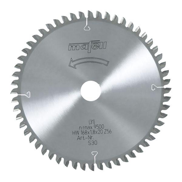 Sägeblatt-HM 168 x 1,2/1,8 x 20 mm, Z 56, WZ