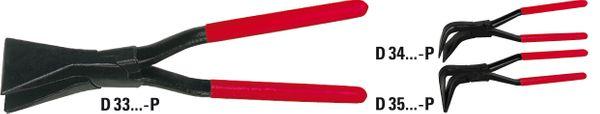 Falzzange 45° gebogen (PVC-beschichtete Griffe) D34-60-P  online kaufen
